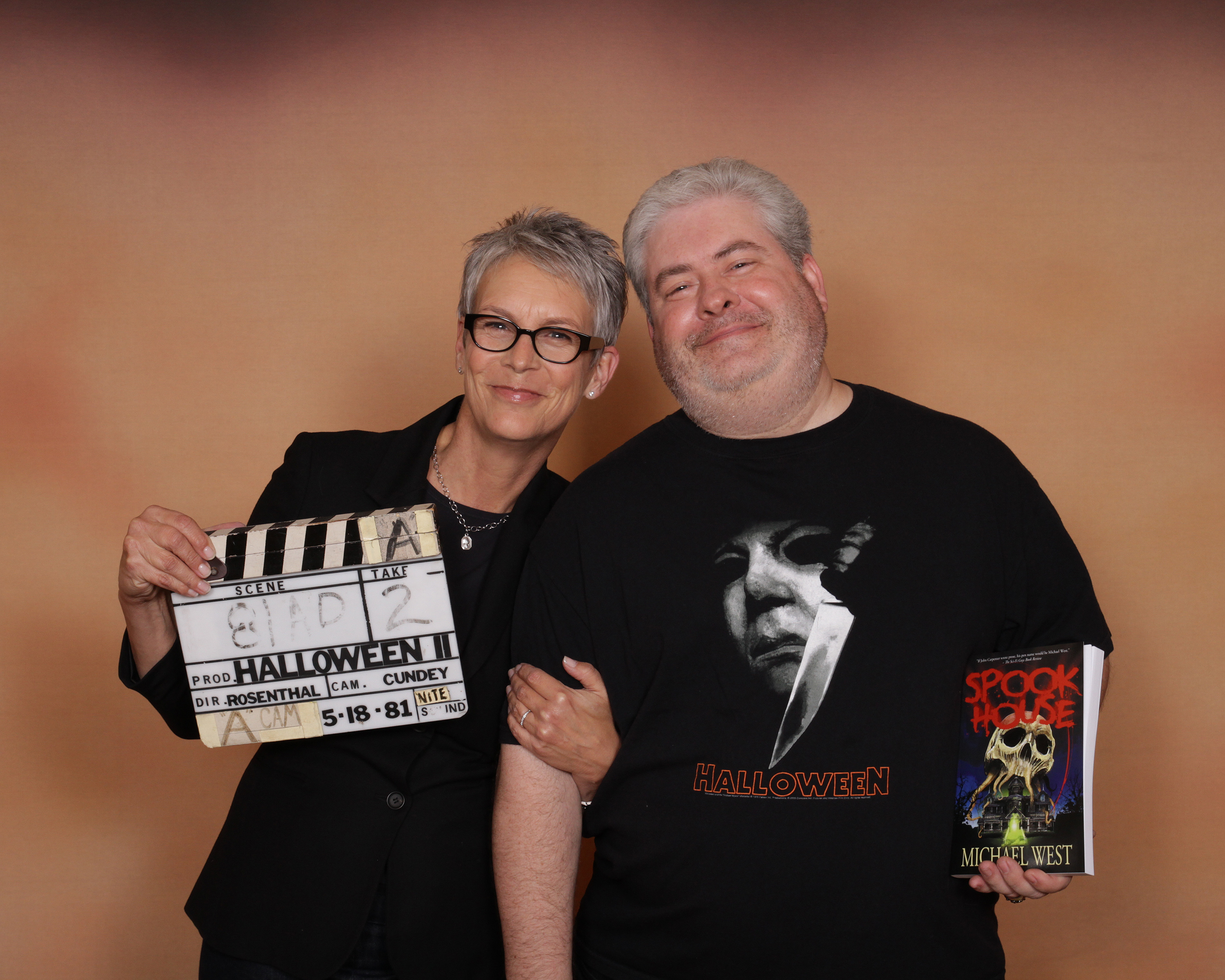 With Jamie Lee Curtis